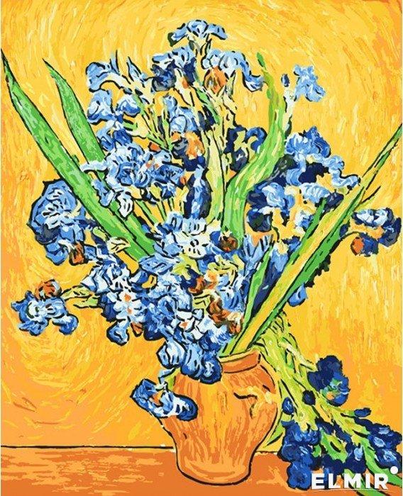 Рисование по номерам Идейка Ирисы в вазе. Ван Гог 40*50 ...